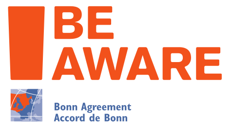 be-aware logo
